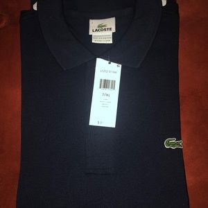 New Men's Lacoste Short-Sleeve Polo- Navy
